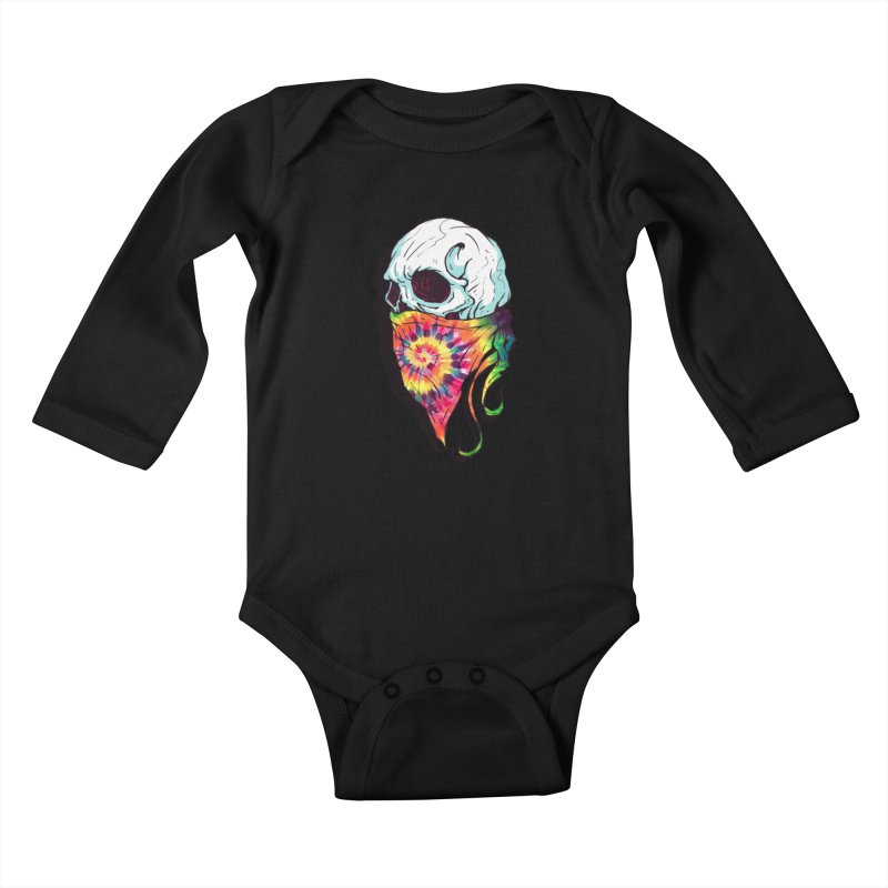 Skull Hipster Kids Baby Longsleeve Bodysuit by Steven Toang