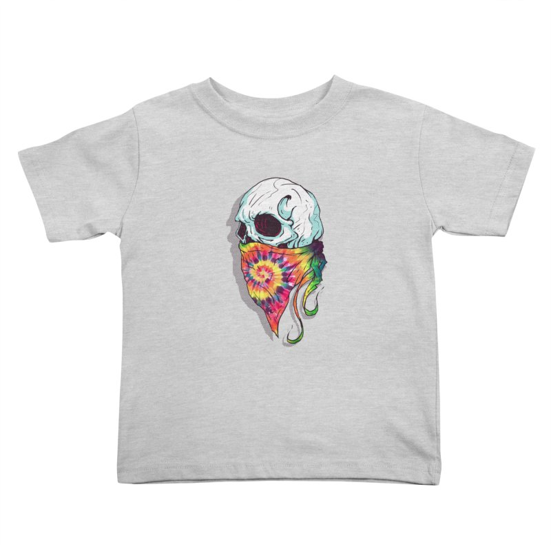 Skull Hipster Kids Toddler T-Shirt by Steven Toang
