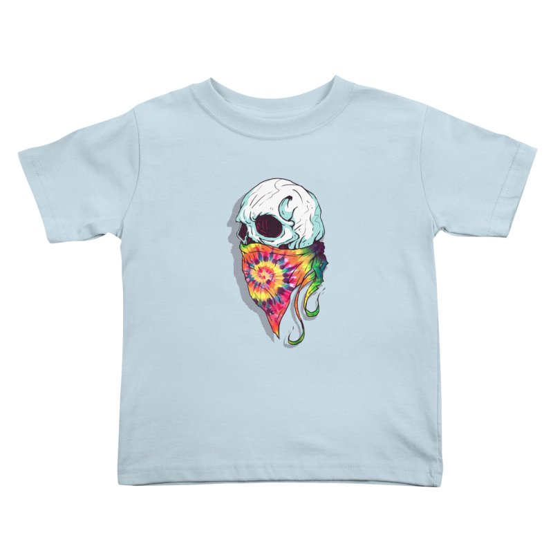 Skull Hipster Kids Toddler T-Shirt by Steven Toang