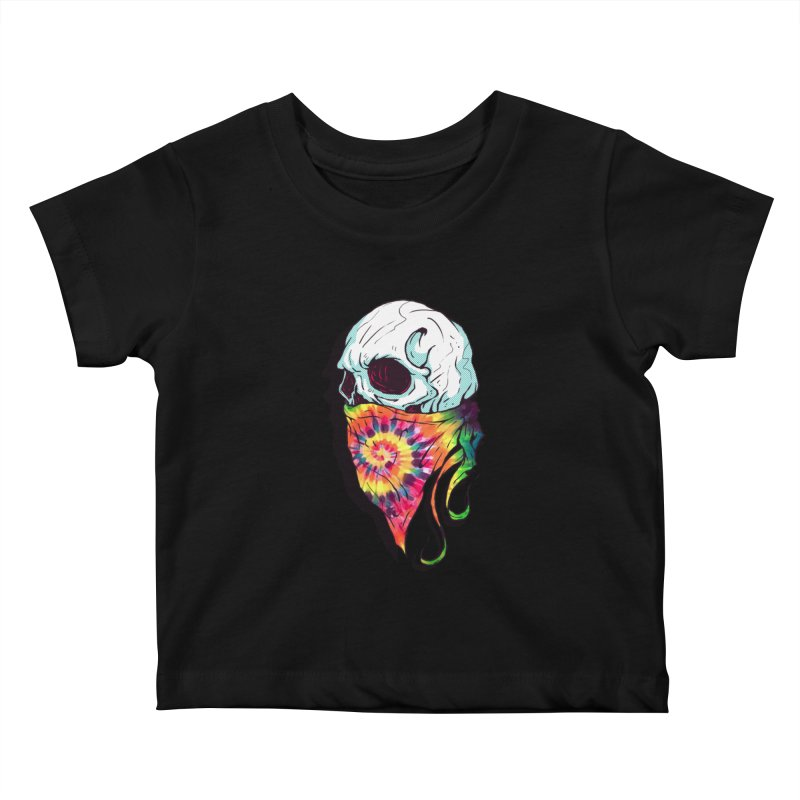 Skull Hipster Kids Baby T-Shirt by Steven Toang