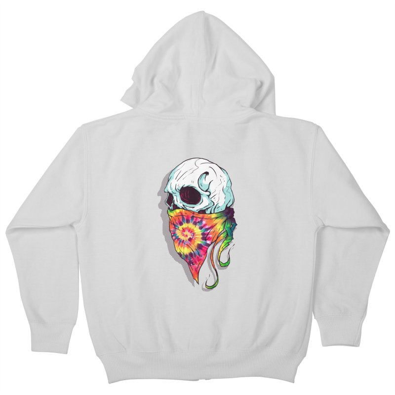 Skull Hipster Kids Zip-Up Hoody by Steven Toang