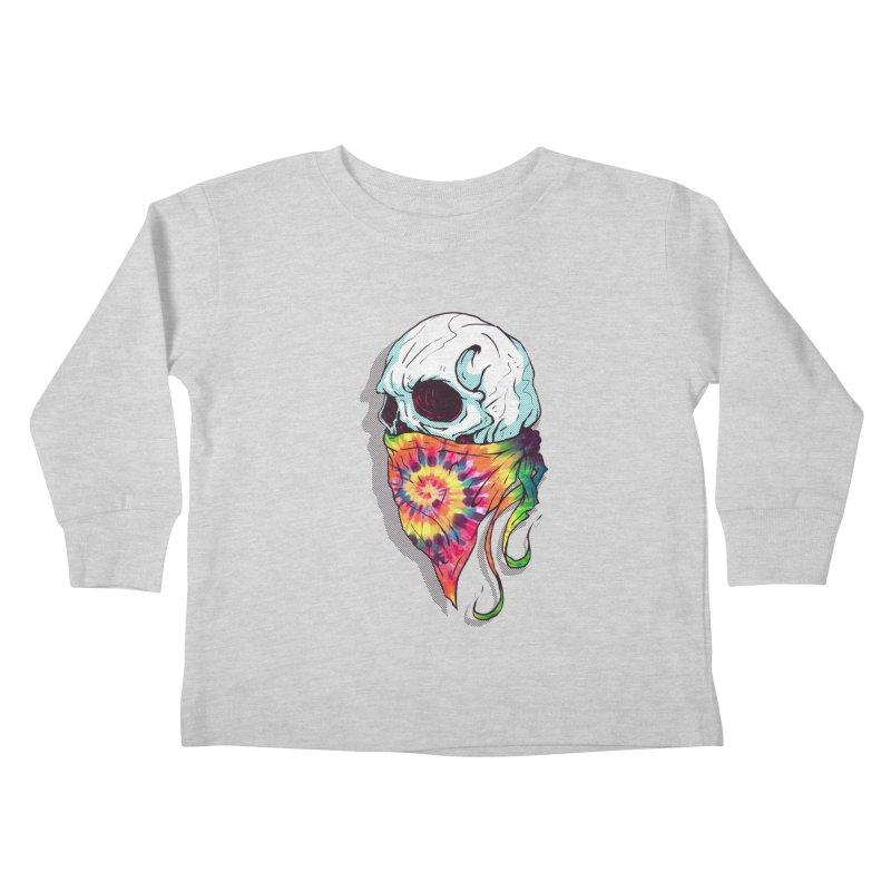 Skull Hipster Kids Toddler Longsleeve T-Shirt by Steven Toang