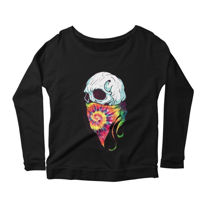 Skull Hipster Women's Longsleeve Scoopneck  by Steven Toang