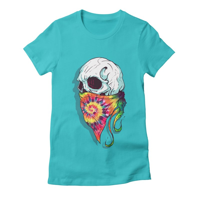 Skull Hipster Women's Fitted T-Shirt by Steven Toang