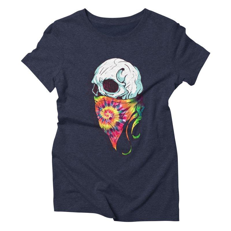 Skull Hipster Women's Triblend T-shirt by Steven Toang