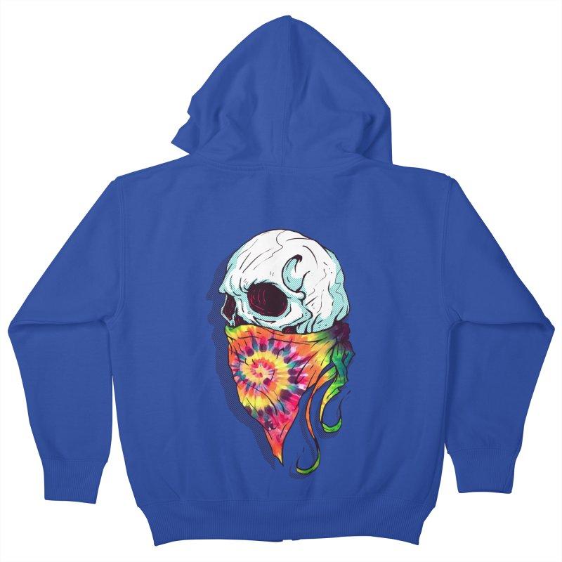 Skull Hipster Kids Zip-Up Hoody by Steven Toang