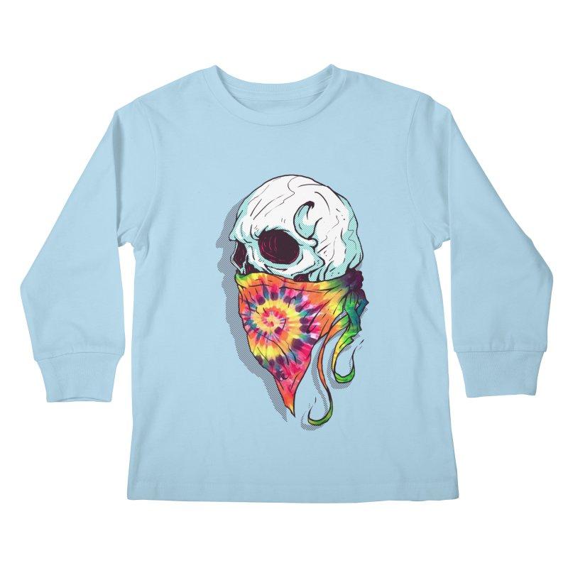 Skull Hipster Kids Longsleeve T-Shirt by Steven Toang