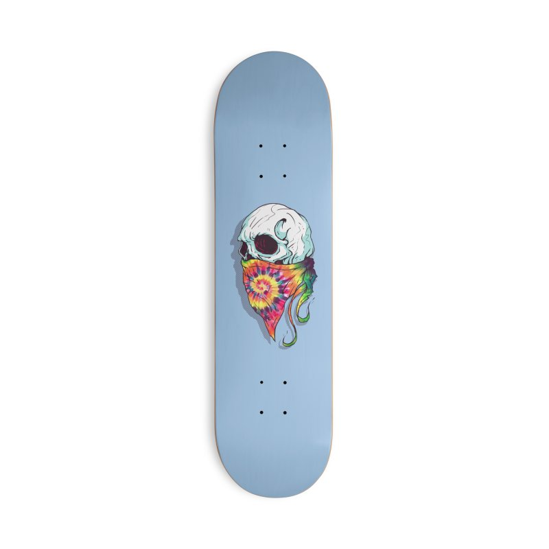 Skull Hipster Accessories Deck Only Skateboard by Steven Toang