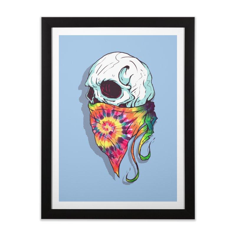 Skull Hipster Home Framed Fine Art Print by Steven Toang
