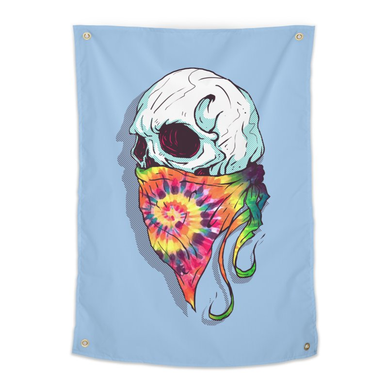 Skull Hipster Home Tapestry by Steven Toang