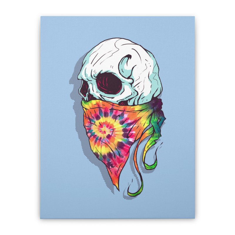 Skull Hipster Home Stretched Canvas by Steven Toang