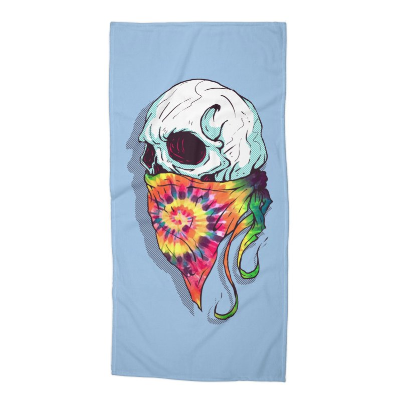 Skull Hipster Accessories Beach Towel by Steven Toang