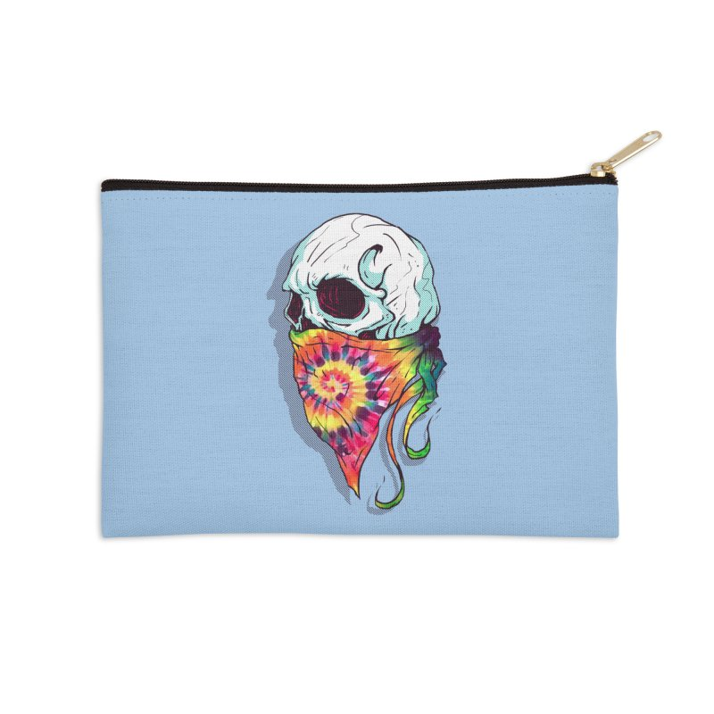 Skull Hipster Accessories Zip Pouch by Steven Toang