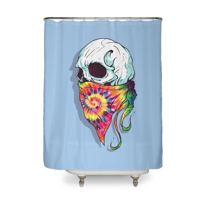 Skull Hipster Home Shower Curtain by Steven Toang