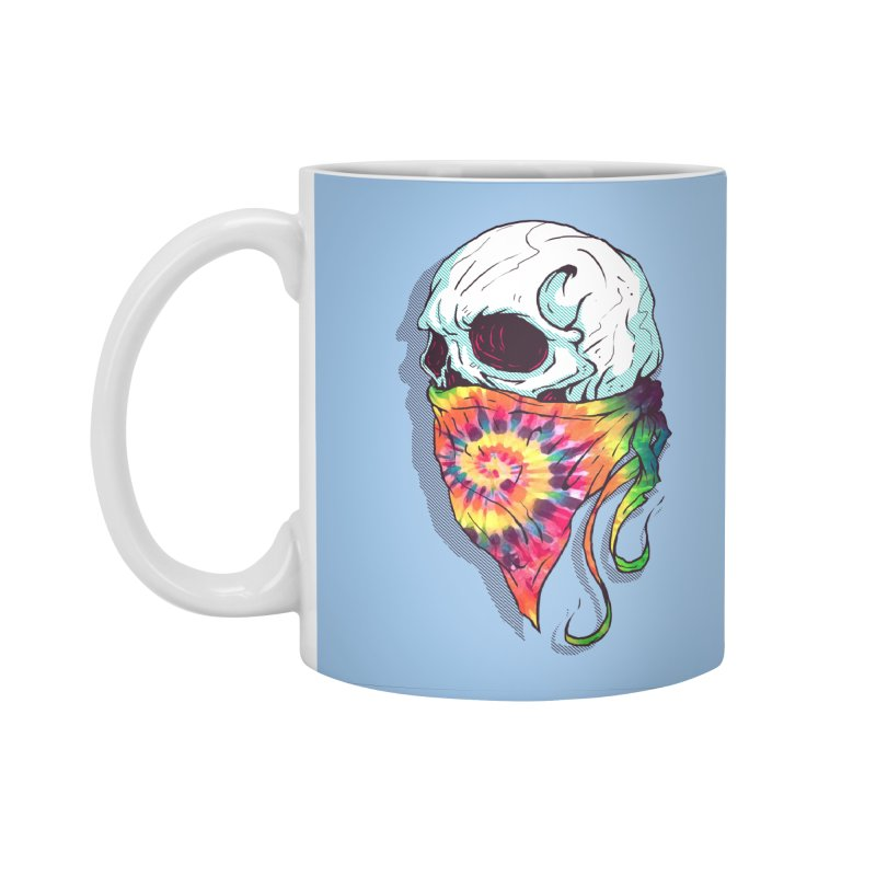 Skull Hipster Accessories Standard Mug by Steven Toang