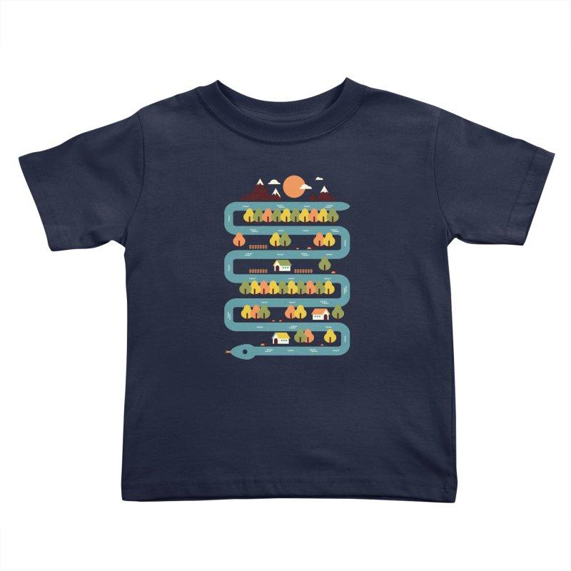 Snake River Kids Toddler T-Shirt by Steven Toang