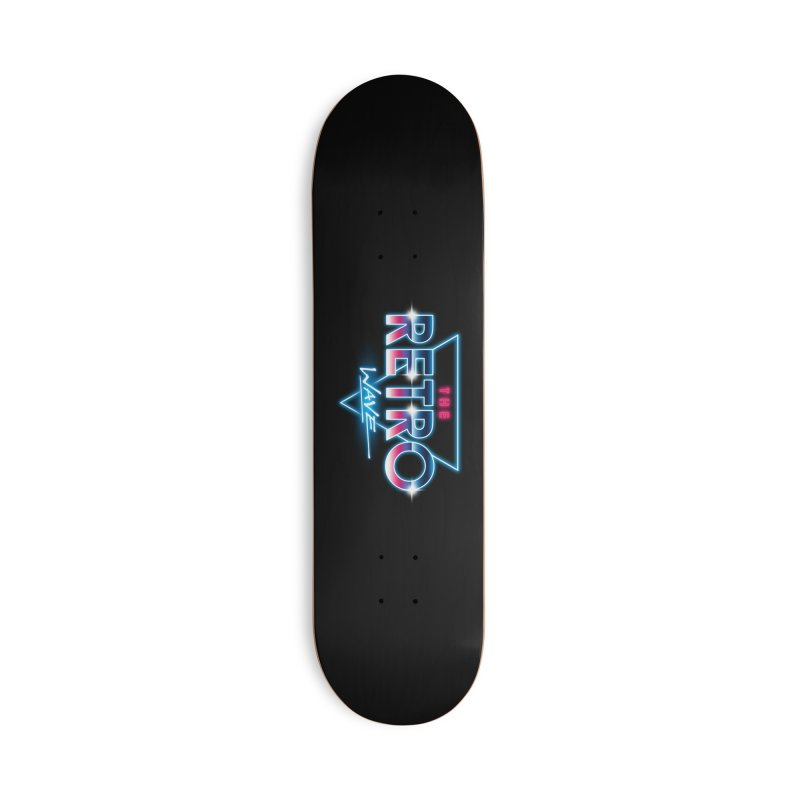 The Retro Wave Accessories Deck Only Skateboard by Steven Toang