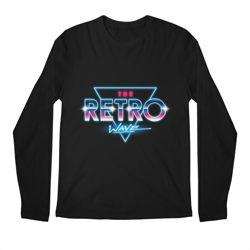 The Retro Wave Men's Longsleeve T-Shirt by Steven Toang