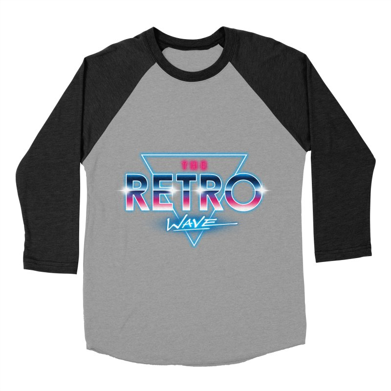 The Retro Wave Women's Baseball Triblend T-Shirt by Steven Toang