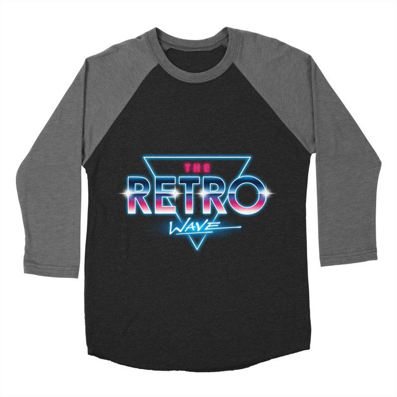 The Retro Wave Men's Baseball Triblend T-Shirt by Steven Toang