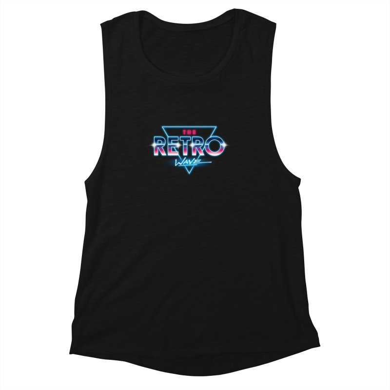 The Retro Wave Women's Muscle Tank by Steven Toang