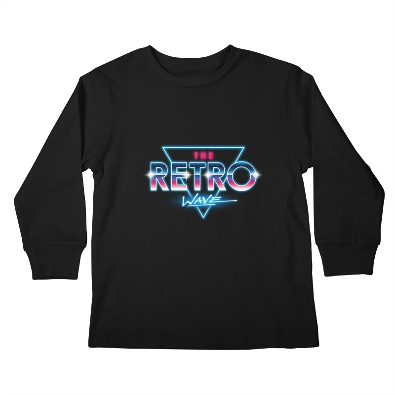 The Retro Wave Kids Longsleeve T-Shirt by Steven Toang