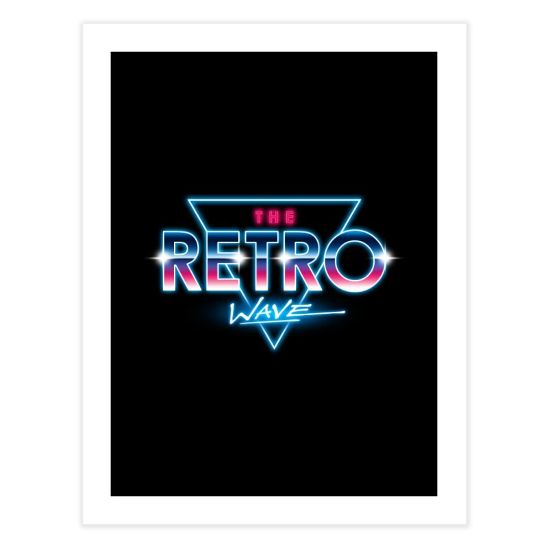 The Retro Wave Home Bath Mat by Steven Toang