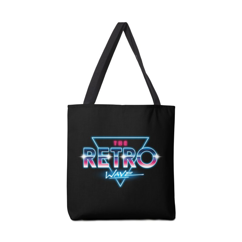 The Retro Wave Accessories Tote Bag Bag by Steven Toang