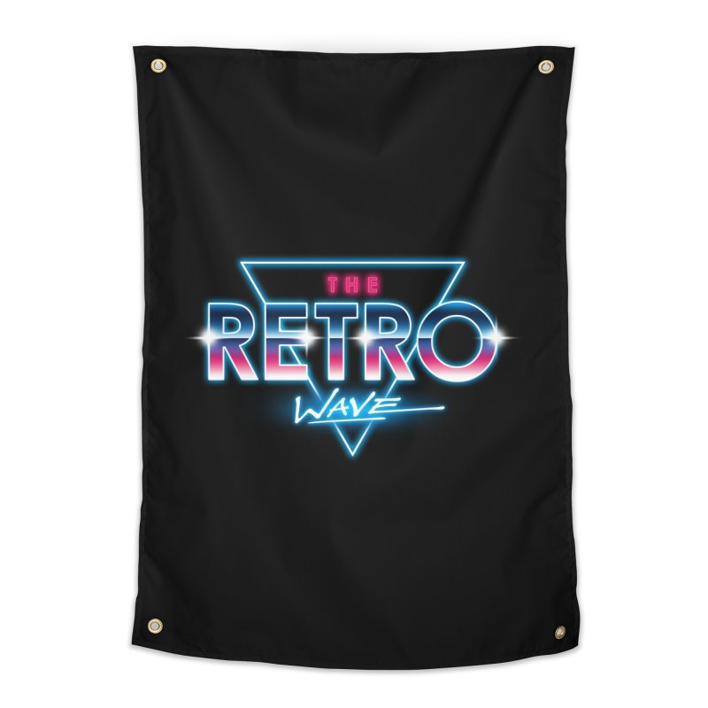 The Retro Wave Home Tapestry by Steven Toang