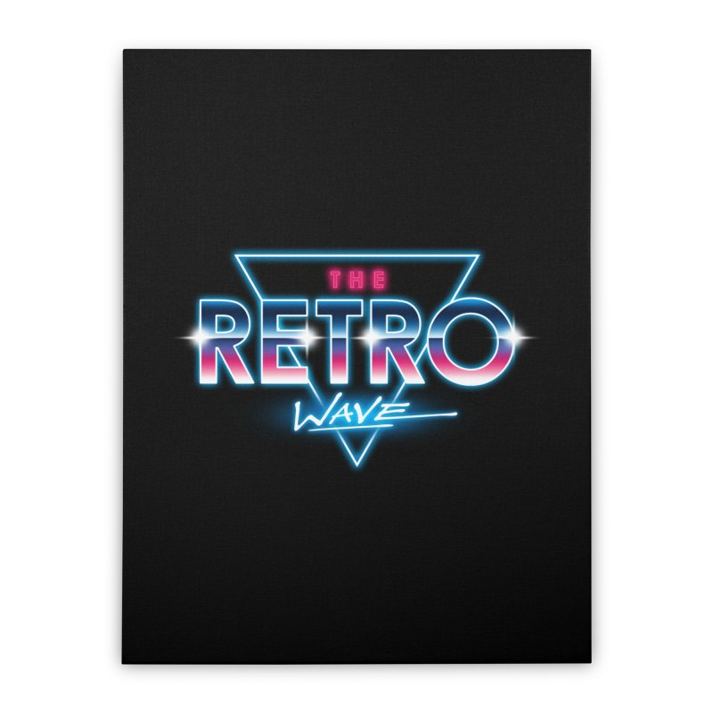 The Retro Wave Home Stretched Canvas by Steven Toang