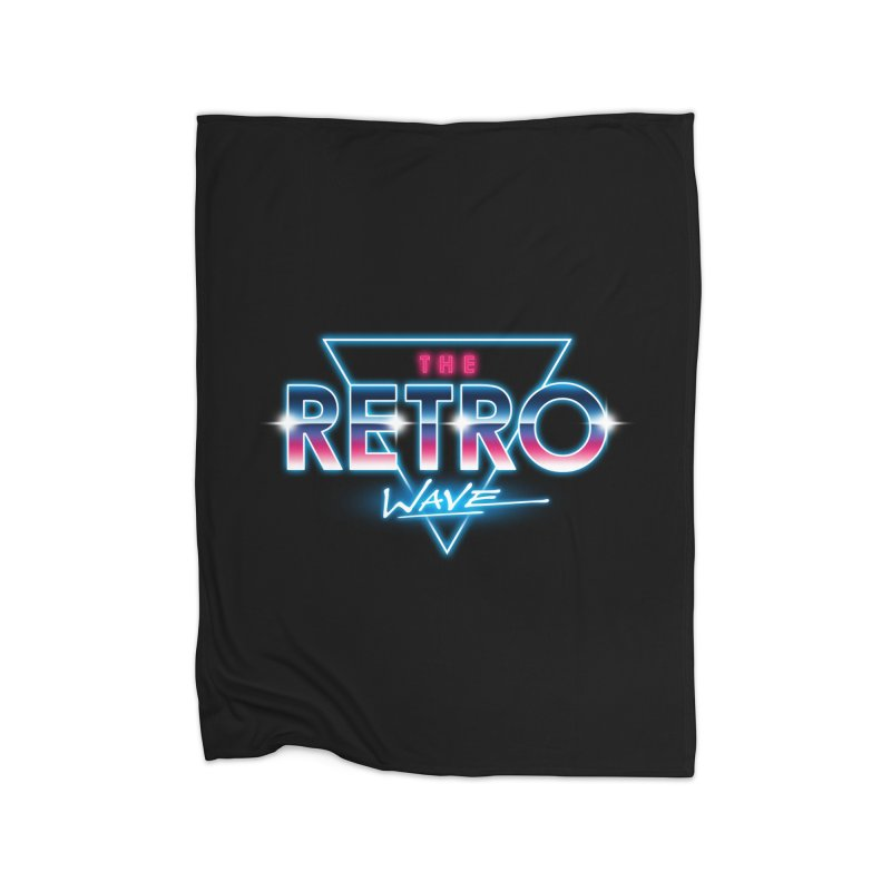 The Retro Wave Home Fleece Blanket by Steven Toang