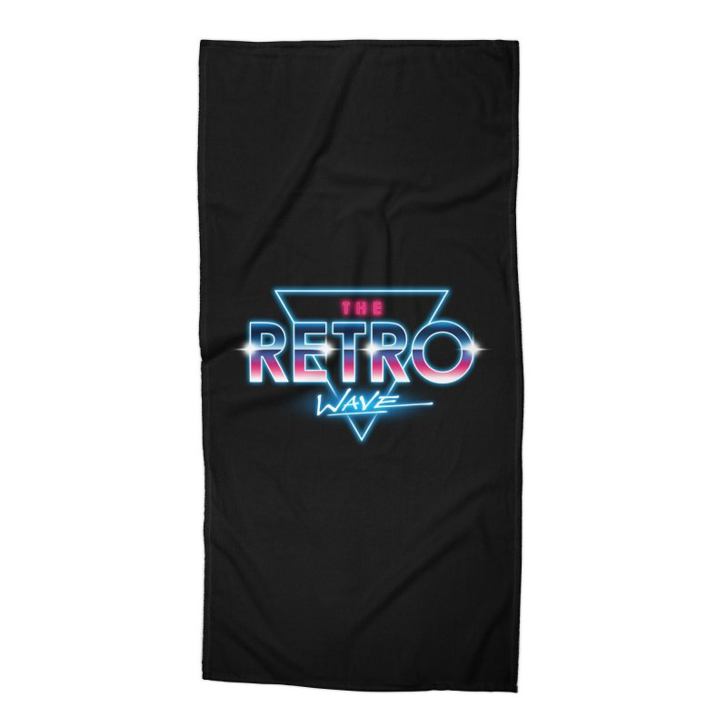 The Retro Wave Accessories Beach Towel by Steven Toang