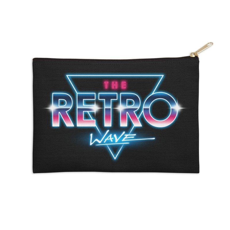 The Retro Wave Accessories Zip Pouch by Steven Toang