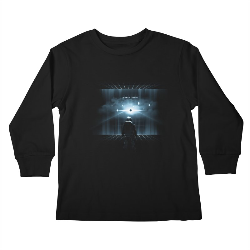 Dimension 404 Kids Longsleeve T-Shirt by Steven Toang