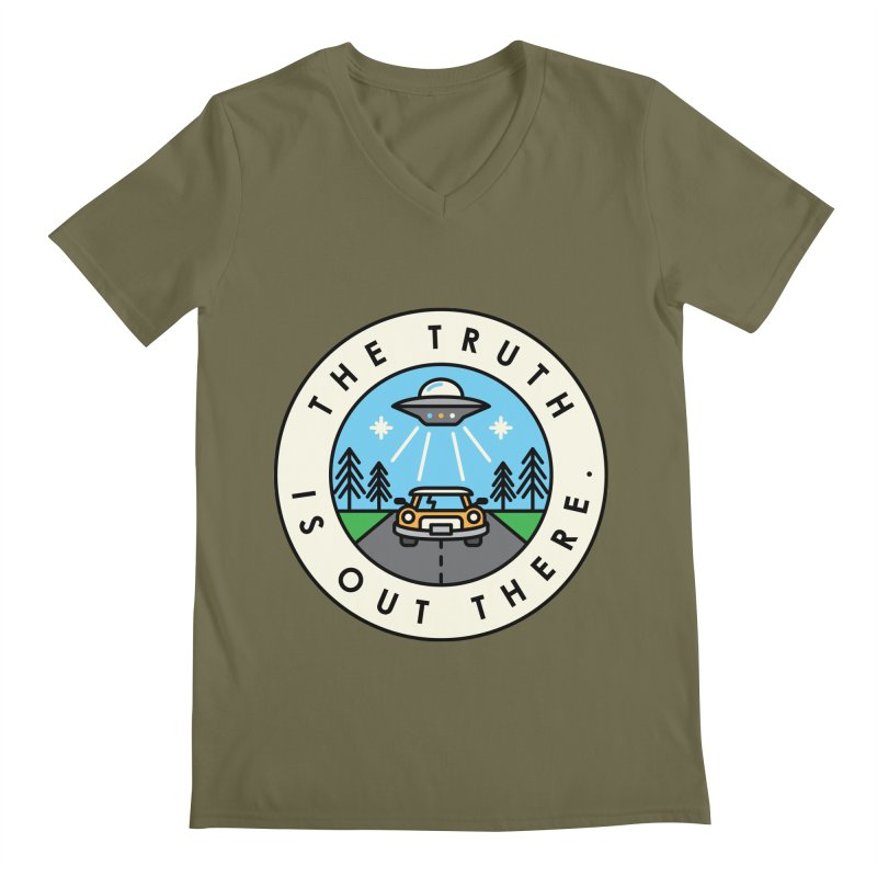 The truth is out there Men's V-Neck by Steven Toang