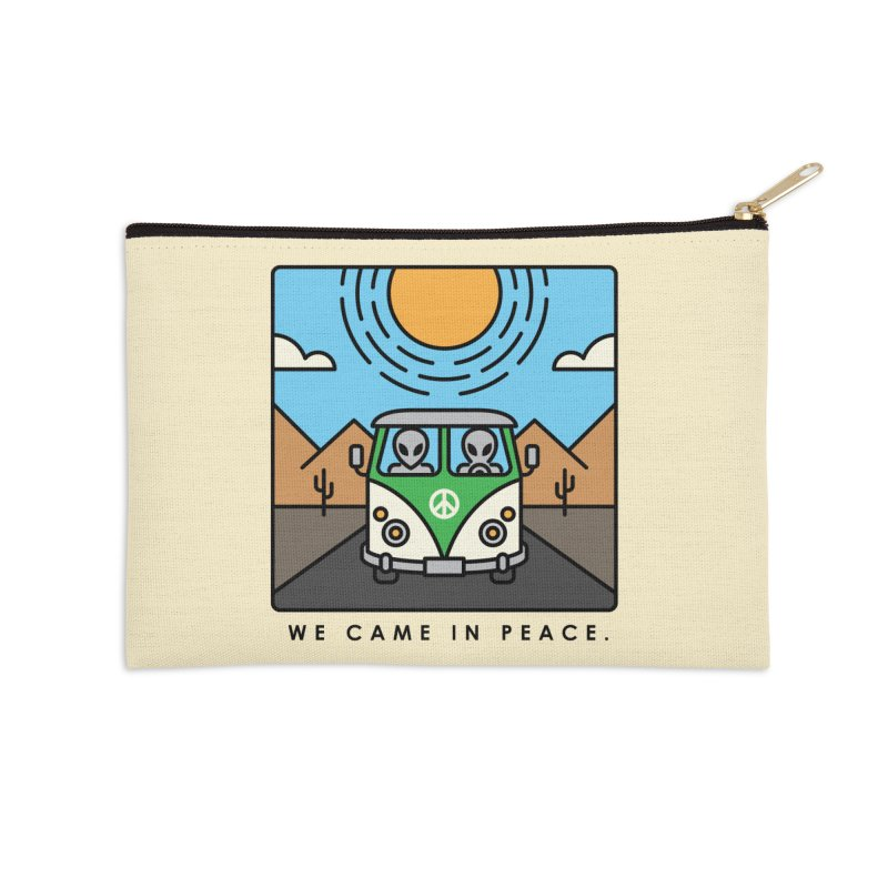 We came in peace Accessories Zip Pouch by Steven Toang