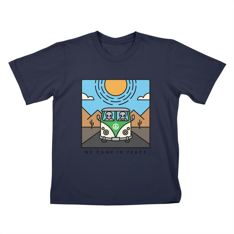We came in peace Kids T-Shirt by Steven Toang