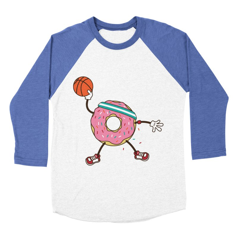 Dunking Donut Men's Baseball Triblend T-Shirt by Steven Toang