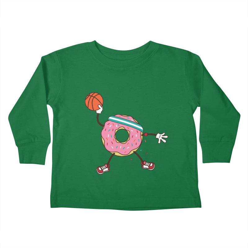 Dunking Donut Kids Toddler Longsleeve T-Shirt by Steven Toang