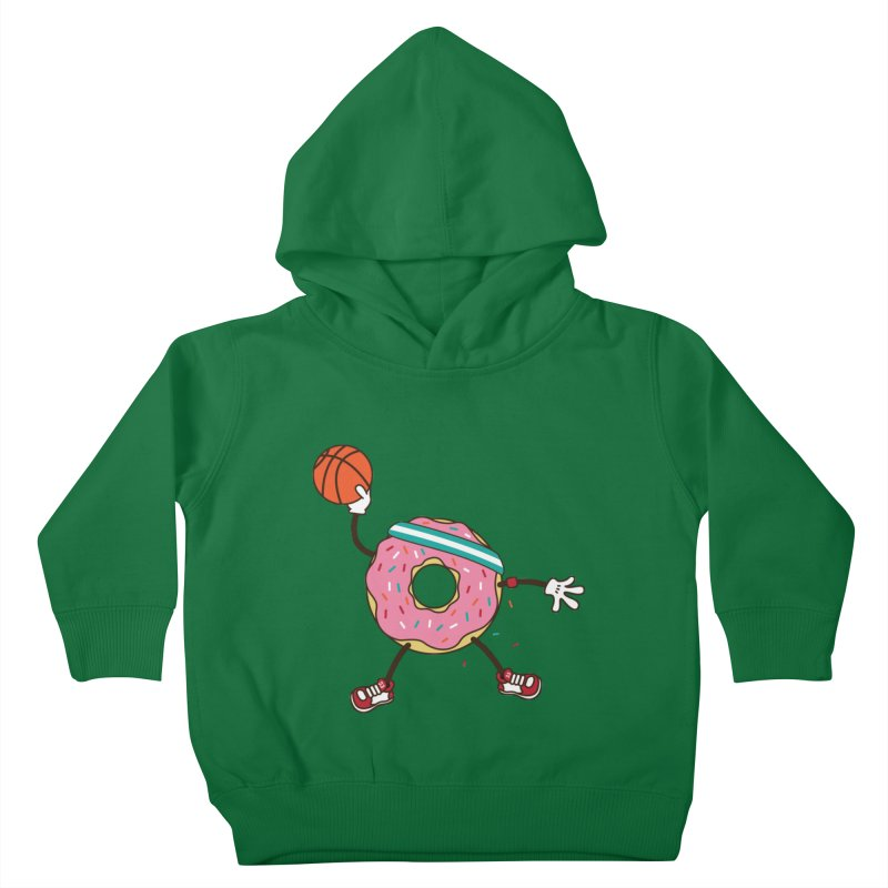 Dunking Donut Kids Toddler Pullover Hoody by Steven Toang