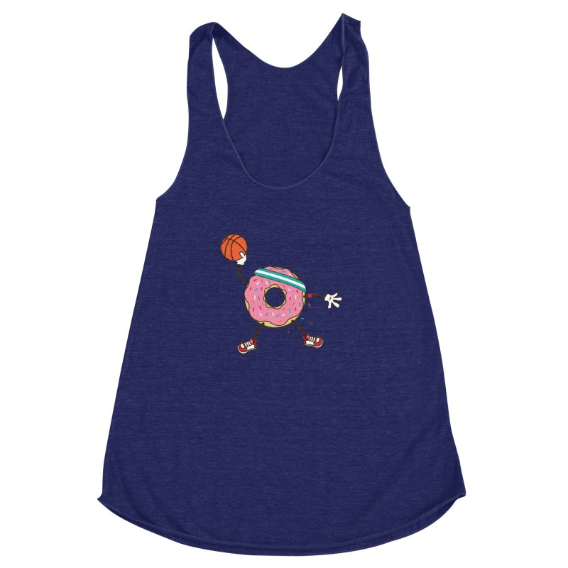 Dunking Donut Women's Racerback Triblend Tank by Steven Toang