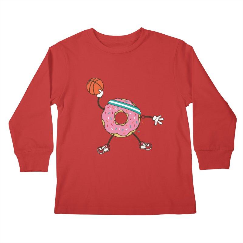 Dunking Donut Kids Longsleeve T-Shirt by Steven Toang