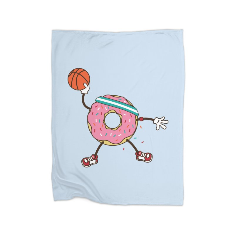 Dunking Donut Home Fleece Blanket Blanket by Steven Toang
