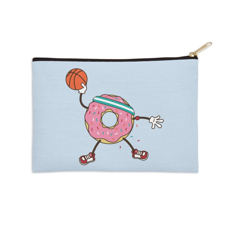 Dunking Donut Accessories Zip Pouch by Steven Toang