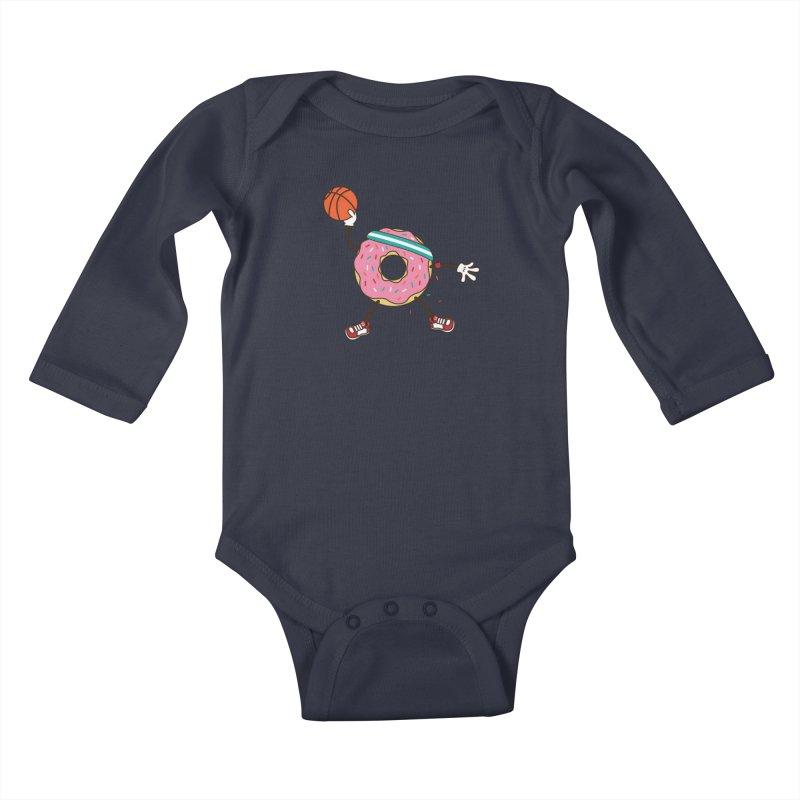 Dunking Donut Kids Baby Longsleeve Bodysuit by Steven Toang