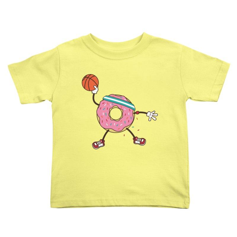 Dunking Donut Kids Toddler T-Shirt by Steven Toang