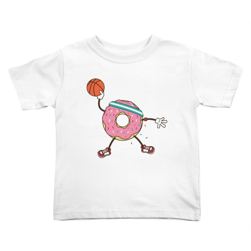 Dunking Donut Kids Toddler T-Shirt by Steven Toang