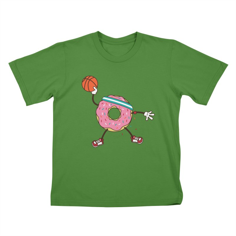 Dunking Donut Kids T-Shirt by Steven Toang
