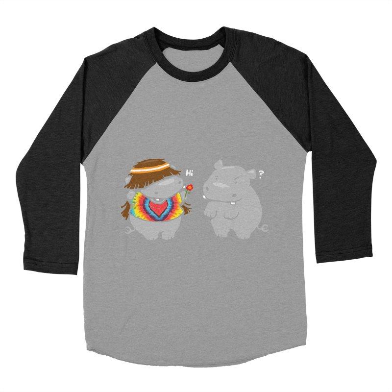 Hippypotamus Women's Baseball Triblend T-Shirt by Steven Toang