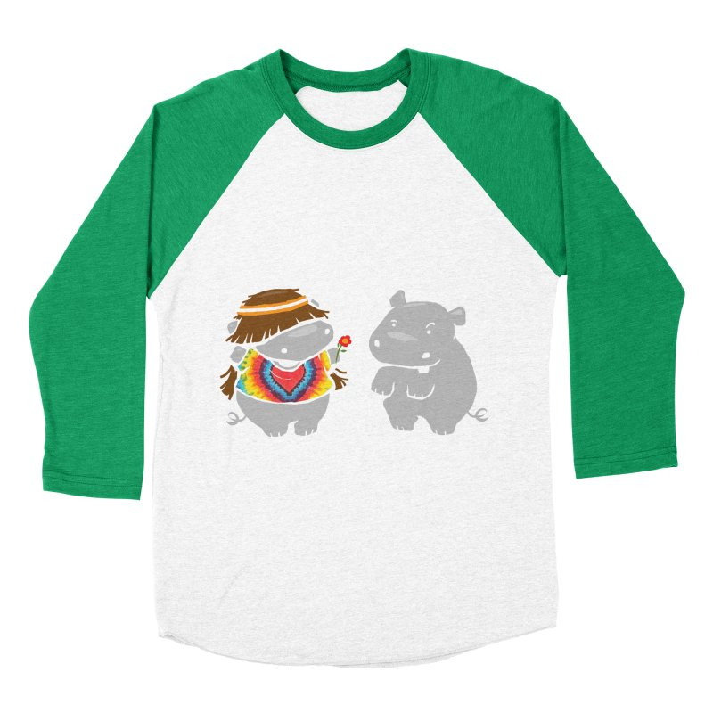 Hippypotamus Men's Baseball Triblend T-Shirt by Steven Toang